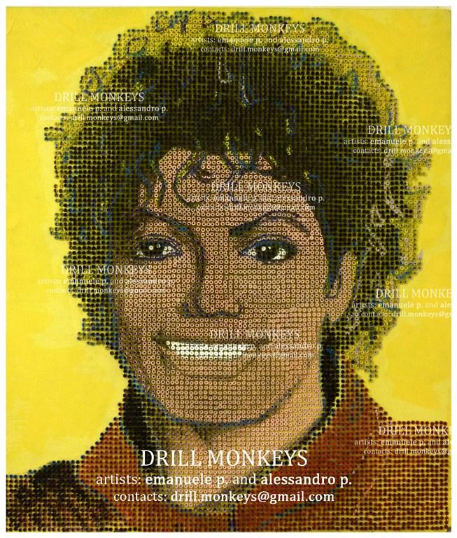 Ritratto di MJ realizzato con 8000 viti 788383970