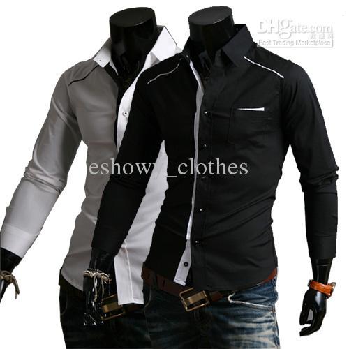 பாருங்கப்பா என்ன அழகு  New-design-slim-men-039-s-shirt-cotton-blended