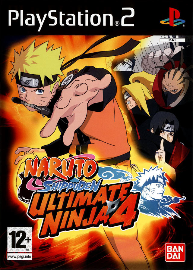 naruto-shippuden-ultimate-ninja-4 Jaquette-naruto-shippuden-ultimate-ninja-4-playstation-2-ps2-cover-avant-g