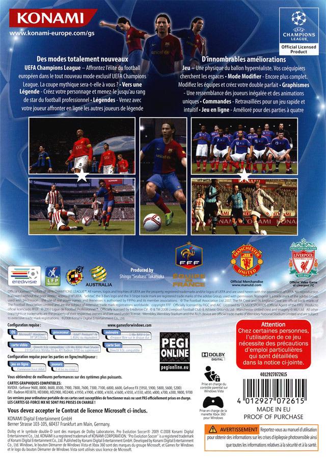 Pro Evolution Soccer 2009 (1 lien) + Serial & Crack Pes2pc0r