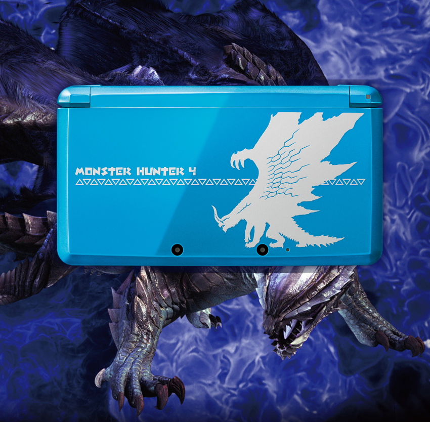 Console 3DS Edition MONSTER HUNTER 4 Mh4-blue-3ds