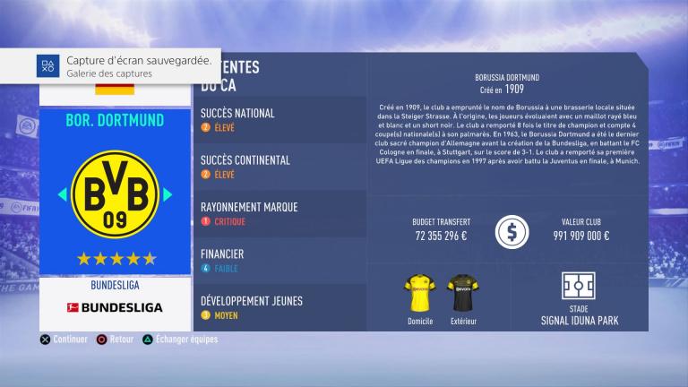 FIFA 19 Mode Carrière : Les jeunes les plus prometteurs, le budget des clubs et bien choisir son équipe 1538386317-7150-capture-d-ecran