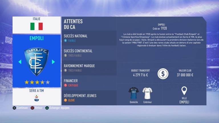 FIFA 19 Mode Carrière : Les jeunes les plus prometteurs, le budget des clubs et bien choisir son équipe 1538388844-1775-capture-d-ecran