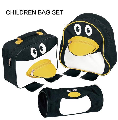 حقائب مدرسية School-Children-Bag-Set-in-Penguin-Shape-YH1101-