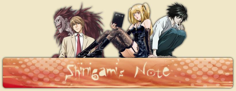 Shinigami's Note