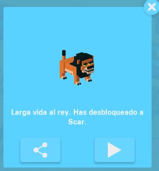 El Rey León en Crossy Road [Videojuego] 1491ab065e6c40ecad32885e17d06ea5