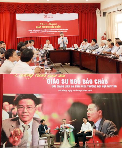 Giáo sư Ngô Bảo Châu thăm và giao lưu với giảng viên, sinh viên ĐH Duy Tân Anhngobaochau1_zmeu