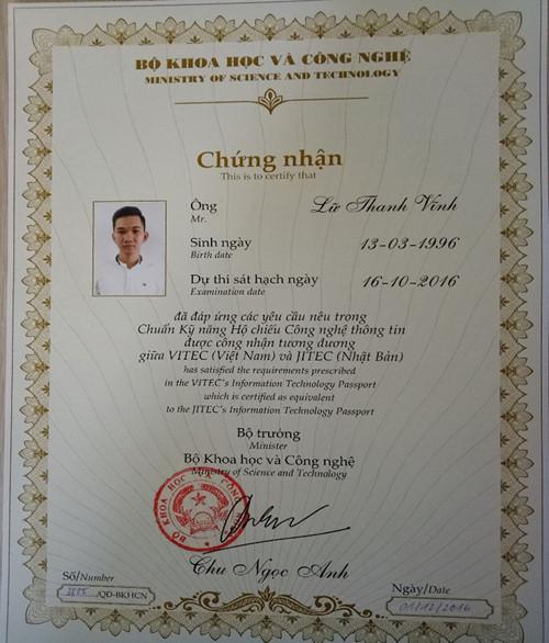 Trao Chứng chỉ CMU, PSU và CSU cho sinh viên Chungchi2_liil