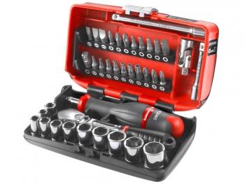 OUTILS  TORX ( MALE) Coffret-compact-cliquet-douilles-radio-1-4-boite-nano-6-pans-facom-rlnano1pb
