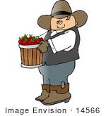 Le jeu du nombre en image... (QUE DES CHIFFRES) - Page 3 14566-cowboy-carrying-apples-in-a-bushel-clipart-by-djart