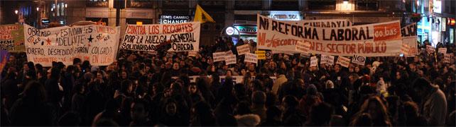 Violenta carga y 9 detenidos en Madrid 1328908529803mani