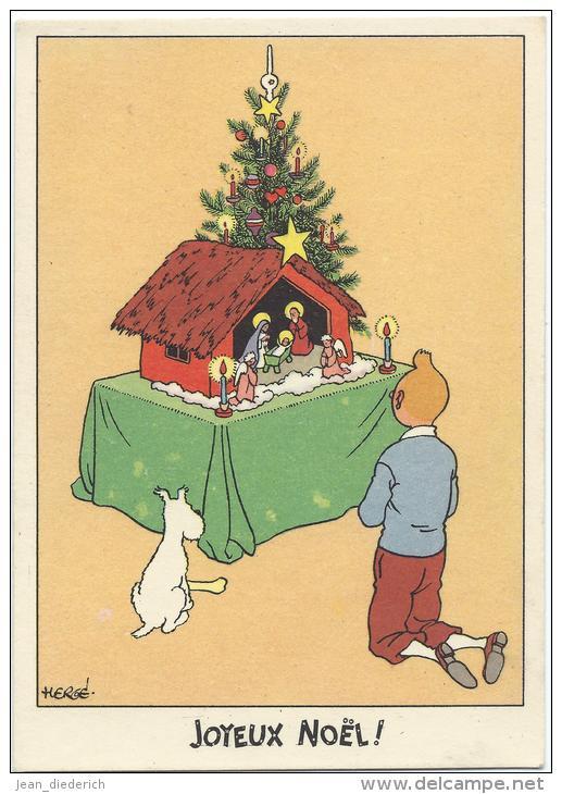 """Le Noël de Tintin, en un temps où la ferveur religieuse était plus importante que la ferveur """"acheteuse"""". 203_001"""