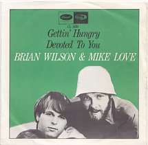 The Beach Boys after Pet Sounds and Good Vibrations Brian-wilson-and-mike-love-gettin-hungry-capitol-5-s