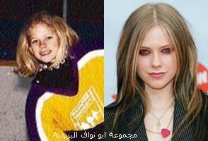 صورهــم (يوم كانو صغار) ويوم صارو مشاهير...لا يفوتكم Avril-Lavigne