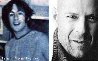 صورهــم (يوم كانو صغار) ويوم صارو مشاهير...لا يفوتكم Bruce-Willis