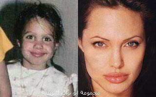 صورهــم (يوم كانو صغار) ويوم صارو مشاهير...لا يفوتكم Angelina-jolie