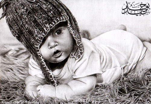 اروع لوحات الفحم Baby