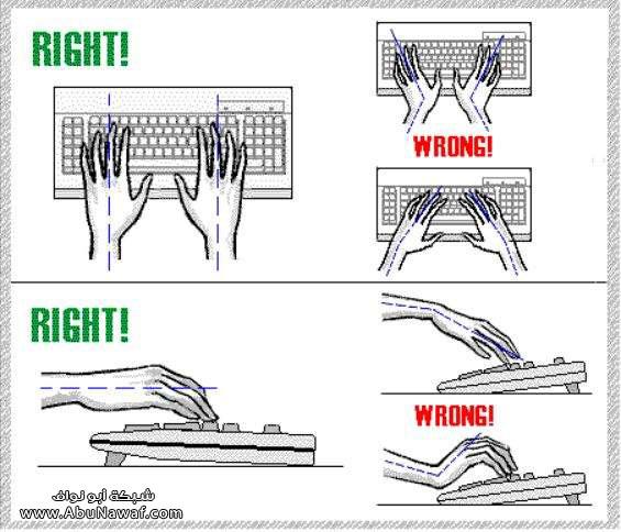 الجلسة الصحيحة امام الكمبيوتربالصور J1