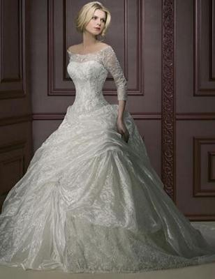 صور فساتين وتسريحات زفاف منوعة 12