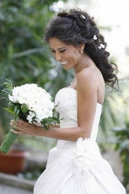 صور فساتين وتسريحات زفاف منوعة 8