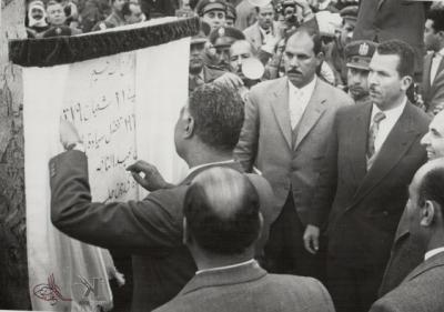 صوراً نادرة للرئيس الراحل جمال عبد الناصر خلال زيارته للمحافظات السورية 14