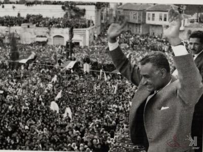 صوراً نادرة للرئيس الراحل جمال عبد الناصر خلال زيارته للمحافظات السورية 16