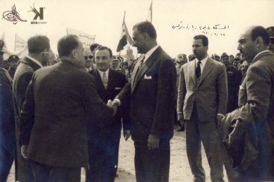صوراً نادرة للرئيس الراحل جمال عبد الناصر خلال زيارته للمحافظات السورية 3