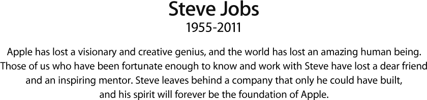 D.E.P. Steve Jobs T_title
