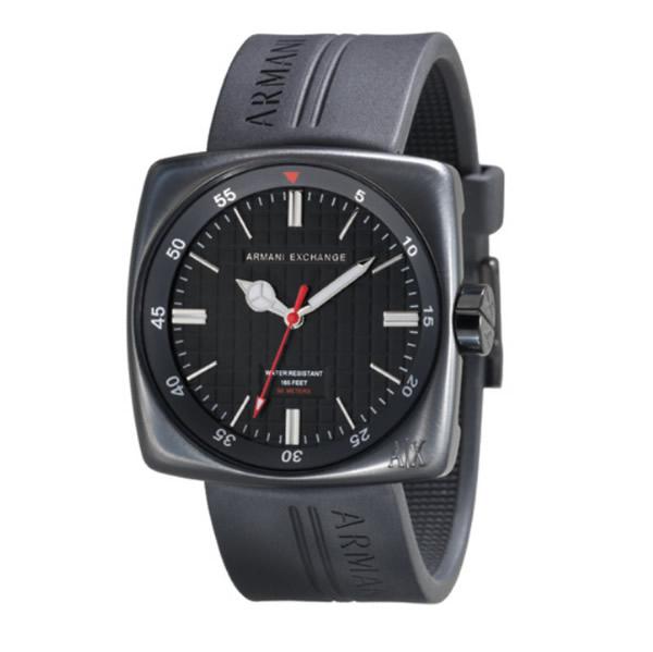 Connaissez-vous des montres dans le genre Bell&Ross ? Armani-echange-square-black-watch_1