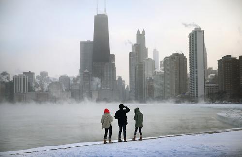 موجة برد قطبية غير مسبوقة تشل مدينة شيكاغو الأمريكية  001aa0ba1bb11435e00352