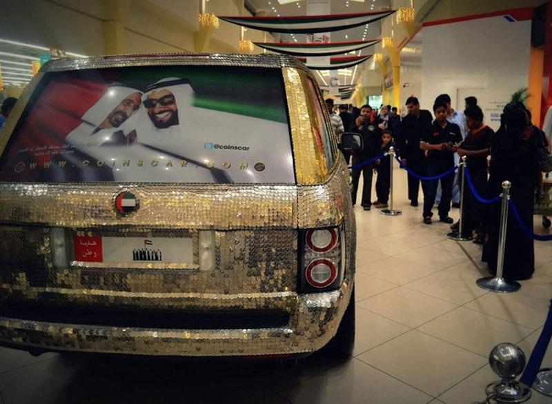 سيارة مرصعة بـ57412 عملة معدنية في دبي  0013729e7972143dc10305