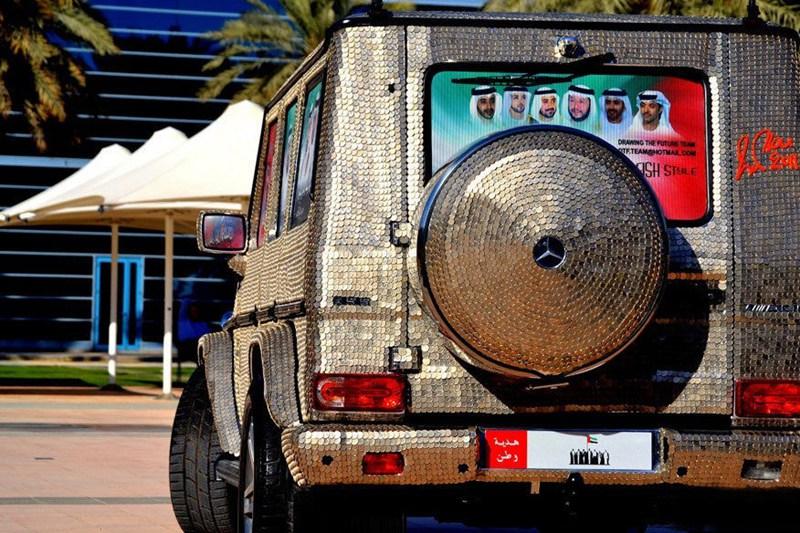 سيارة مرصعة بـ57412 عملة معدنية في دبي  0013729e7972143dc10306