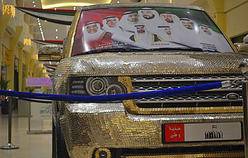 سيارة مرصعة بـ57412 عملة معدنية في دبي  0013729e7972143dc1040a