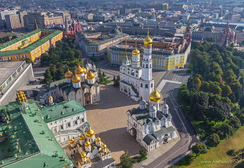Московский Кремль с воздуха   02