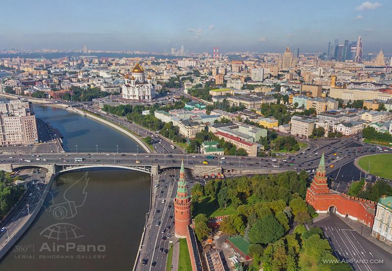 Московский Кремль с воздуха   09