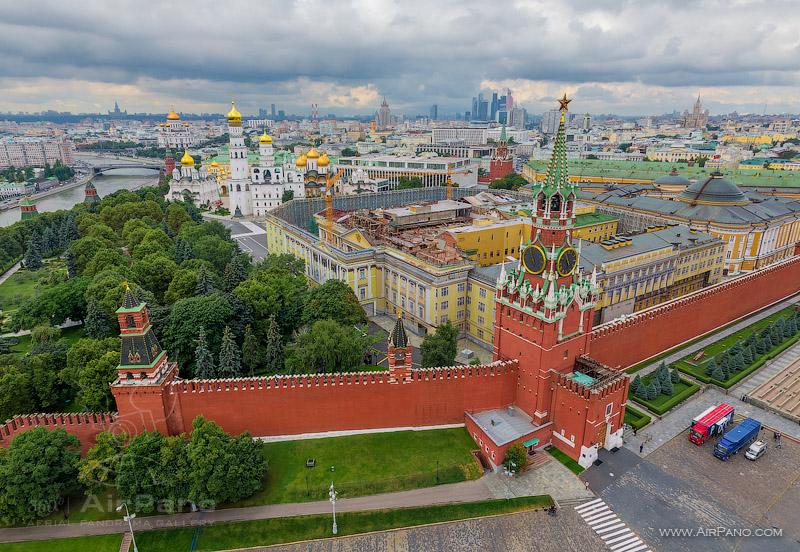 Московский Кремль с воздуха   21