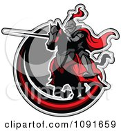 HONTEUX le plagiat... - Page 2 1091659-Jousting-Knight-Pointing-His-Lance-Over-A-Gray-And-Red-Circle