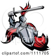 HONTEUX le plagiat... - Page 2 1111705-Medieval-Knight-Mascot-With-A-Shield-And-Sword