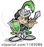 HONTEUX le plagiat... - Page 2 1163089-Tough-Knight-In-Green-Holding-Up-A-Shield-And-A-Sword