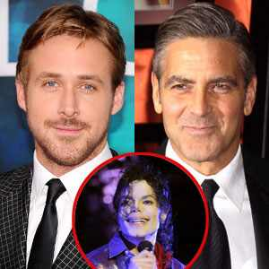 L'attore Ryan Gosling paragona George Clooney a Michael Jackson 300.ab.clooney.gosling.082211