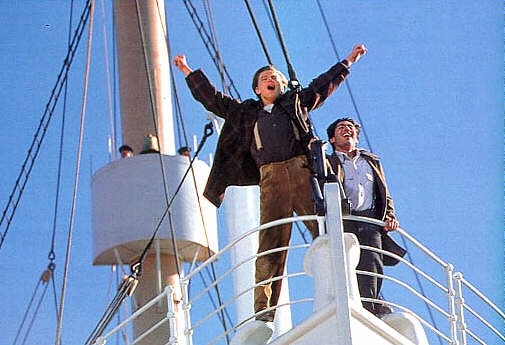 Que reprochez-vous le plus au film de Cameron ? King-of-the-world-jack-dawson-625480_505_345