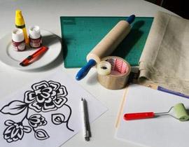 فن الرسم على القماش 1