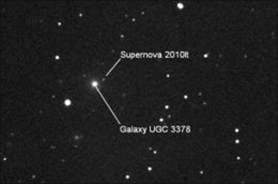 اكتشاف جسم فضائي على يد طفلة تبلغ 10 سنوات!! Supernova