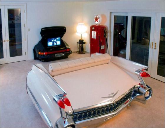 بالصور: شغفه بالسيارات دفعه لتحويلها الى اثاث في منزله! Car_home_04