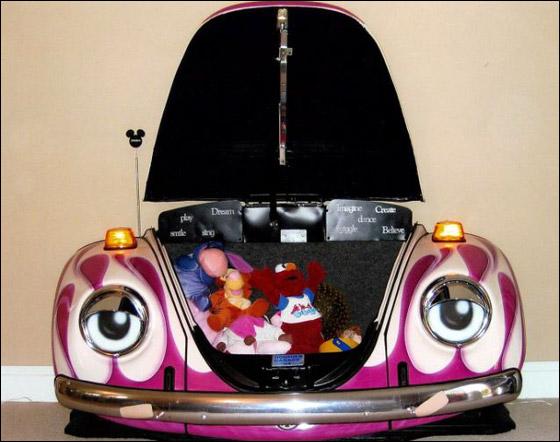 بالصور: شغفه بالسيارات دفعه لتحويلها الى اثاث في منزله! Car_home_05