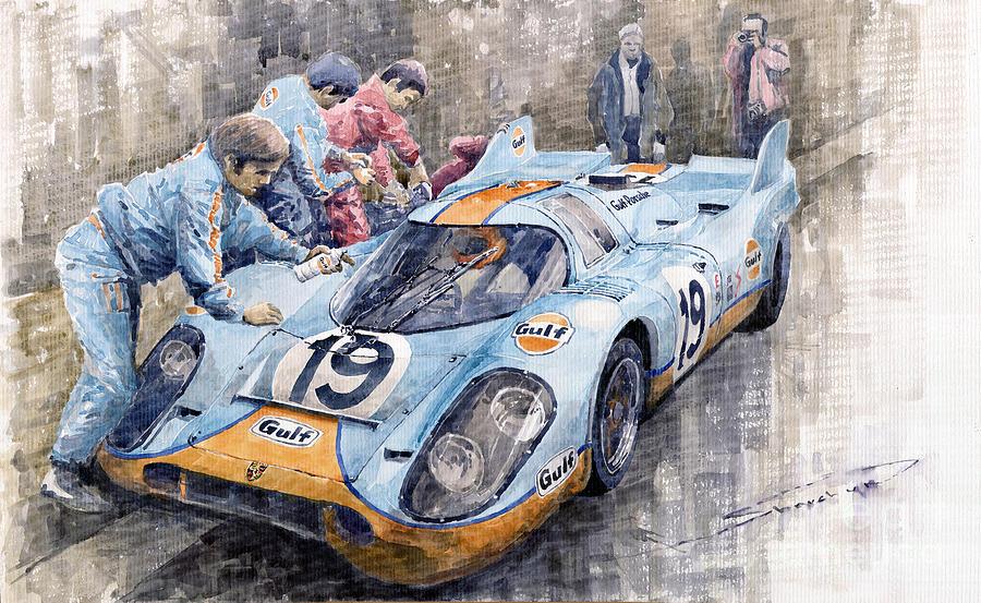 le sport auto  et l'art - Page 32 Porsche-917-k-gulf-le-mans-1971-mueller-attwood-yuriy-shevchuk