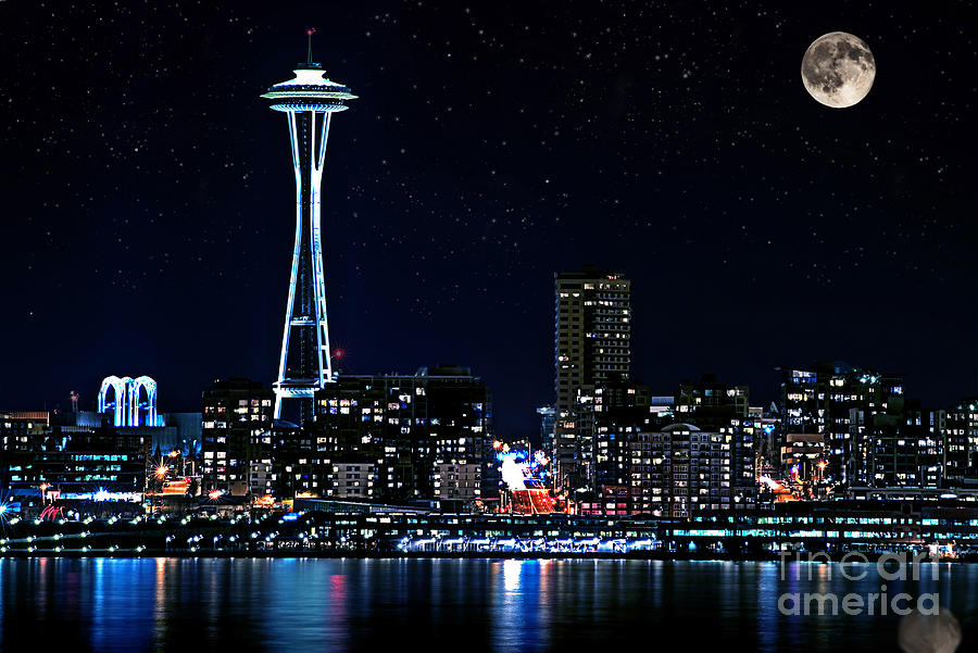 The United States of the Solar System, A.D. 2133 (Deep State Nine) - Page 10 Seattle-skyline-at-night-with-full-moon-valerie-garner
