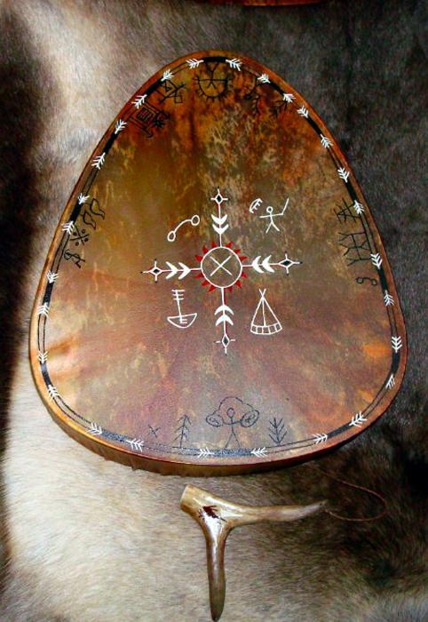 doblar madera Sami-shaman-drum-merja-waters