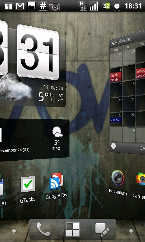 [APPLICATION ANDROID - ADWLAUNCHER EX] Home en 3D [Payant] CAP2010122418311