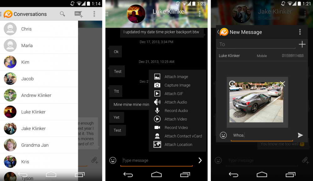 Top 5 des meilleures applications SMS sur Android Android-evolvesms-klinker-apps-images-0-1000x580